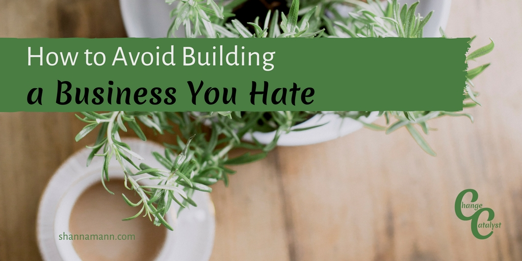 How to Avoid Building a Business You Hate